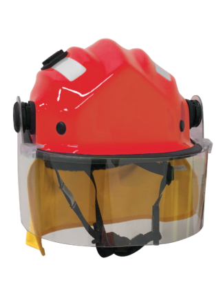 BR9 Cap Style Wildland Firefighting Helmet, with clip on visor & mesh cradle