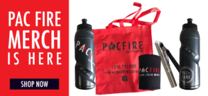 Pac Fire Merchandise is available online