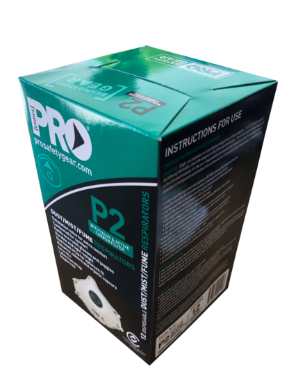 Pro Safety Gear P2 Cup Style Dust Masks with Plastic Valve
