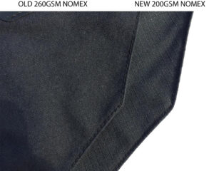 Changes to Nomex® in selected structural firefighting helmets