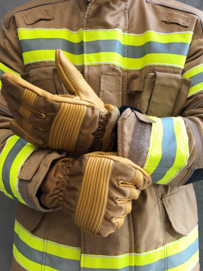 Bristol Uniforms Composite Leather Nomex® Structural Firefighting Gloves