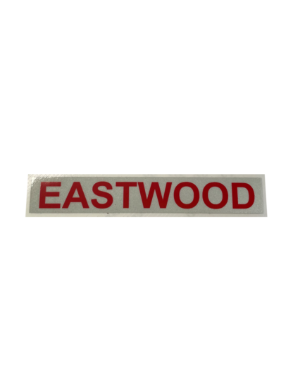 Helmet Sticker - Straight / Name - with reflective backing plate